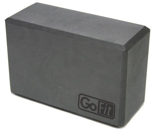GoFit Premium Yoga Block, Grey, 4x6x9-Inch
