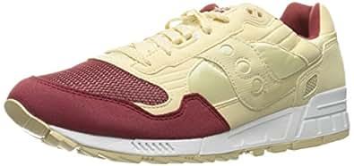 Saucony Originals Men's Shadow 5000 Fashion Sneakers, Cream/Red, 5 M US
