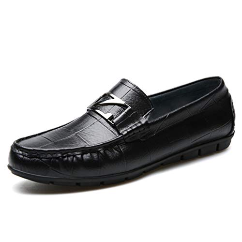 fe0ec6dce621da Basse Homme au Loisir Résistant à Chaussure pour Souple Lacet l'usure Noir  en Cuir sans Conduite ...