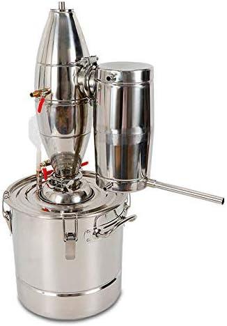 Destilador de alcohol de agua 304 de acero inoxidable con alcohol Moonshine etanol, caldera de aguardiente y aguardiente (20 L)