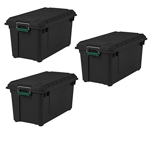IRIS 82 Quart Remington WEATHERTIGHT Store-It-All Tote 3 Pack