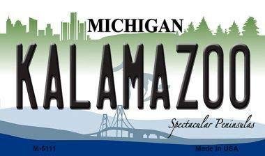 Kalamazoo Michigan State License Plate Novelty Magnet, used for sale  Delivered anywhere in Canada