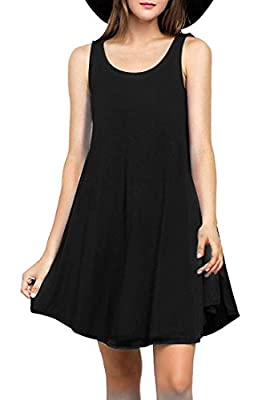 MOLERANI Women's Sleeveless Casual Loose Tank Summer Dress