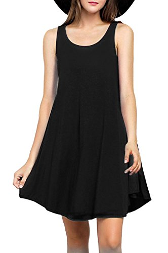 MOLERANI Women's Casual Sleeveless Swing Dress Tunic Tank Top Dresses