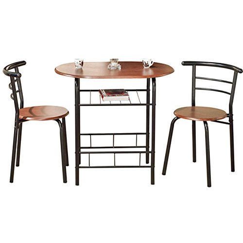 Compact Three Piece Dining Set with 1 Table and 2 Chairs Effective in Limited Spaces Plus FREE GIFT