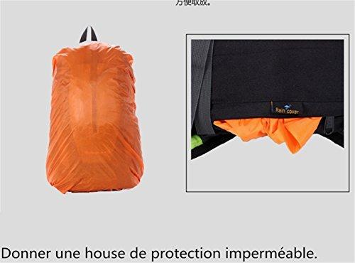 Ultraléger Nylon 40L Sac YOGLY en Imperméable pour Camping Randonnée Alpinisme de Sport avec Voyage Protection à Trekking de Dos Vert Housse Escalade 4YxOY0