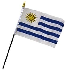 """Uruguay 4""""x6"""" bandera de escritorio Stick (sin base)"""