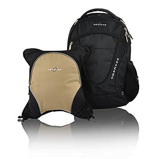 Oslo Diaper Backpack, Shoulder Baby Bag, Food Cooler, Clip to Stroller Black/Sand