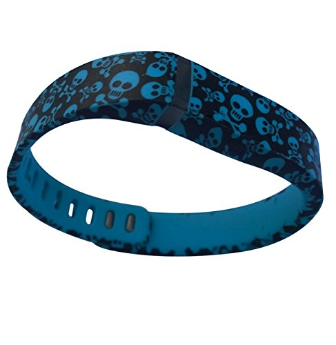 [해외]스마트 테크 스토어 해골과 뼈 해적단 교체 밴드 FitX 전용 잠금 장치 / 추적기 없음 / 무선 작동 팔찌 스포츠 손목 밴드 fo/Smart Tech Store Skulls and Bones Pirates Replacement Band With Clasp for Fitbit FLEX Only /No tracker/ Wireless A...