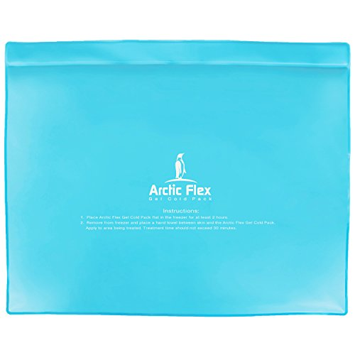 Gel Ice Pack by Arctic Flex - Cold Therapy Ice Bag - Reusable Medical Freezer Pad - Hot / Heated Compress Wrap for Knee, Shoulder, Back and Ankle - Flexible, Soft & Instant (11