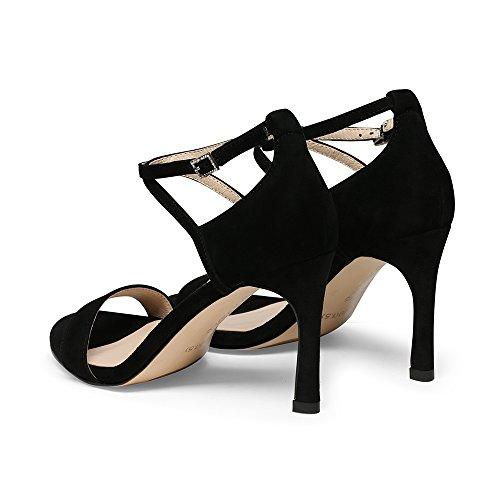 Negro Alto Sandalias Gljxg Tacón De Para Mujer Aguja Tobillo Correa Verano Moda ST1Pw