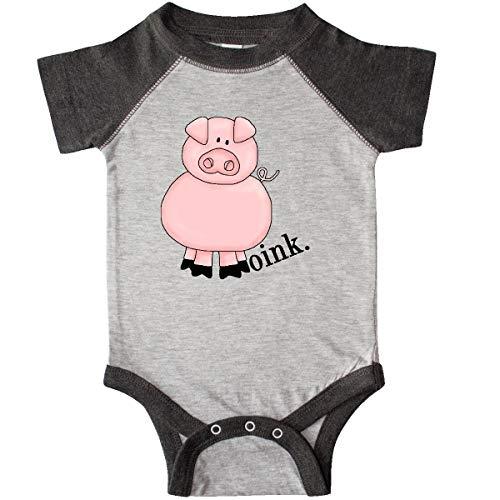 inktastic - Pig-Oink Infant Creeper Newborn Heather and Smoke 10dad