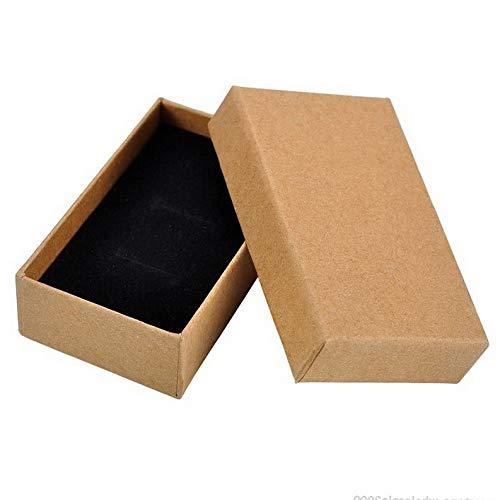 Werrox 1 New Tawny Kraft Paper Gift Box Earrings Rings Pendant Necklace Jewelry Box GW | Model JWRLBX - 59