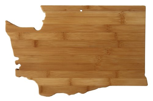 Totally Bamboo State Cutting & Serving Board, Washington, 100% Bamboo Board for Cooking and Entertaining