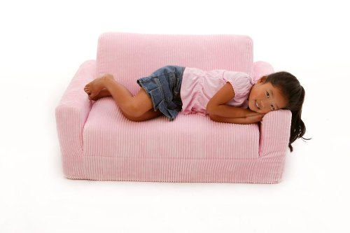 amazoncom fun furnishings sofa sleeper pink chenille kitchen dining - Toddler Sofa