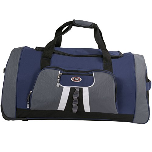 CalPak Hollywood 31-inch Rolling Upright Duffel Bag, Navy, One (Calpak Rolling Backpacks)