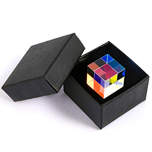 Awessus A Novelty Gift from Light| Magic Cube Crystal Optics Glass Prism Creates Wonderful Ray World