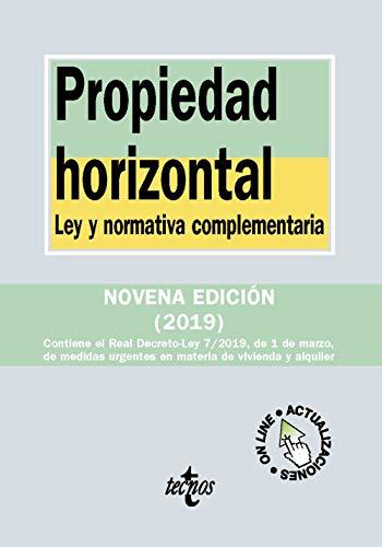 Propiedad horizontal: Ley y normativa complementaria (Derecho - Biblioteca De Textos Legales) por Editorial Tecnos,Bercovitz Rodríguez-Cano, Rodrigo