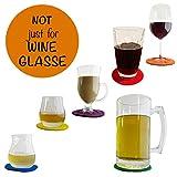 Shmoo Unique Felt Coasters for Drinks - Wine