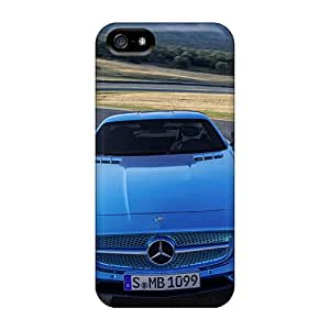 Flexible Tpu Back Case Cover For Iphone 5/5s - Mercedes Benz Road