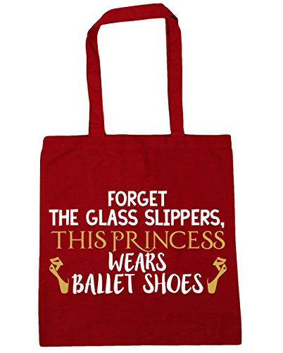 Forget Tote slippers HippoWarehouse Gym princess Beach wears ballet Classic Shopping this Red Bag shoes glass the litres 42cm x38cm 10 Adwqz