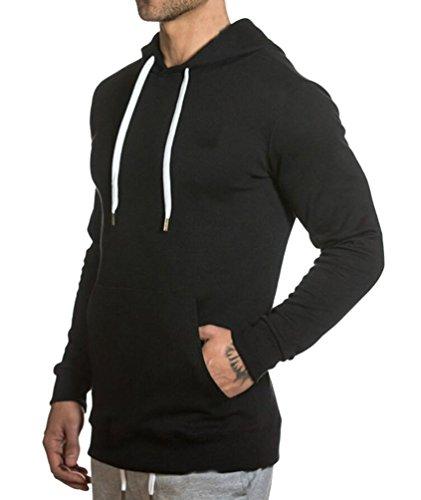 Manteaux À noir Cape Cotton Vestes Courte Fitness Fermeture Éclair Hoodie Casual Athletic Wy01 Capuche Sweat Manches Manteau Homme qFx5wTUXq