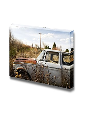 Abandoned Car in Brush Wall Decor ation