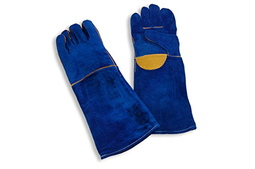 End of Summer Sale!!!! Leather Barbecue (Bbq)/welding Gloves, Kevlar Sewn, 18
