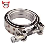 EVIL ENERGY 3 Inch Stainless Steel Exhaust V Band Clamp Male Female Flange Kit