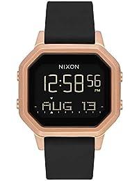Siren SS Black/Rose Gold Womens Water-Resistant Digital Watch (36mm. Black