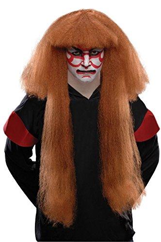 Adult Asian Japanese Chinese Kabuki Long Large Hair Wig Costume Accessory