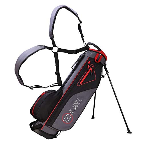 RAM Golf Lightweight Stand Carry/Sunday Bag Black/Grey/Red