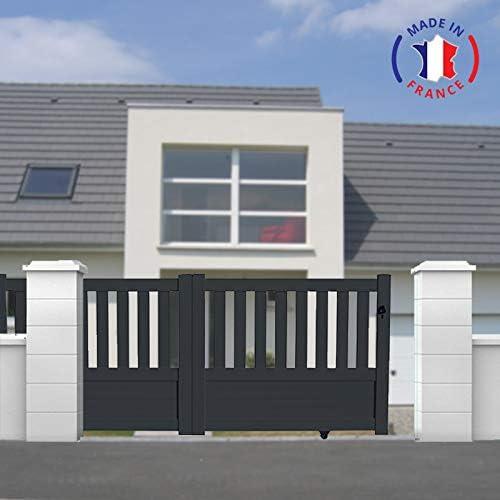 PACKIT puertas correderas aluminio en Kit Semi ajouré L4000 X H1300, gris: Amazon.es: Jardín