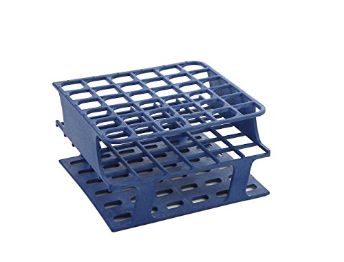 (Heathrow Scientific HS27502B OneRack Tube Rack, Half Size, Polyoxymethylene (POM), 16 mm, 36 Wells, Blue (Pack of)