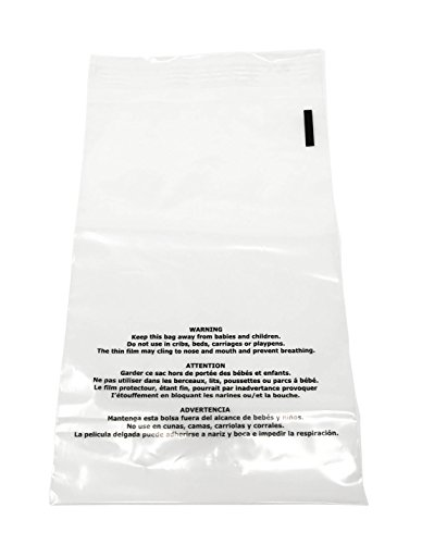Shop4Mailers 9 x 12 Suffocation Warning Clear Plastic Self Seal Poly Bags 1.5 Mil (1000 Pack)