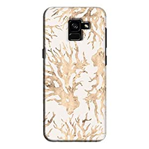 Cover It Up - Blue Pastel Nature Print Galaxy A7 2018 Hard Case
