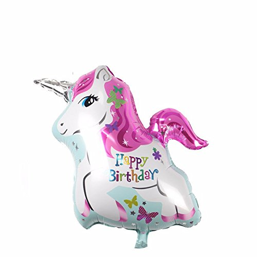[mk. park - Home Cute Inflatable Foil Helium Balloons Horse Unicorn Toy Party Birthday Decor] (Wizard Of Oz Tattoo Ideas)