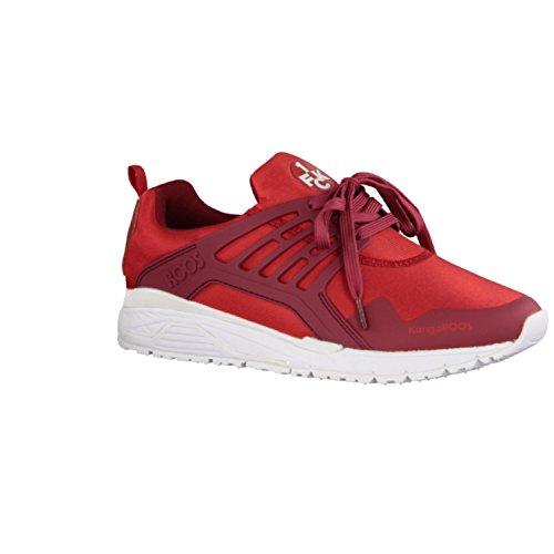 KangaROOS 1. FCK 47203-699 Runaway Roos- Herrenschuhe Sneaker/Schnürschuh, Rot, Synthetik/Leder