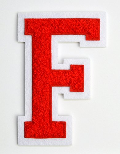 Varsity Letter Patches - Red Embroidered Chenille Letterman for sale  Delivered anywhere in USA