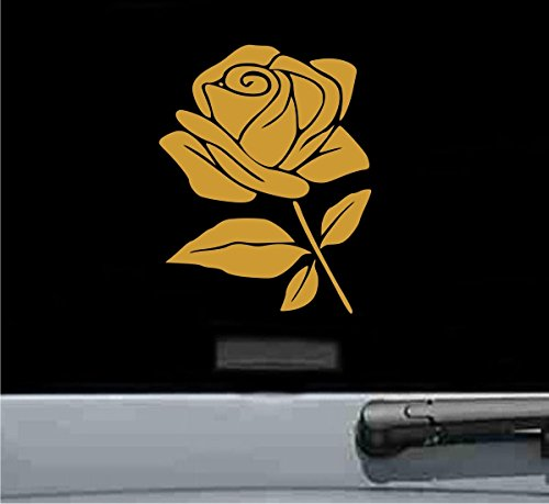 Rose flower Vinyl Decal Sticker - Rims Gold Rose