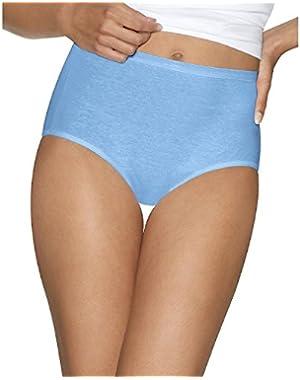 Hanes Women's 4Pack Assorted Cotton Briefs Ladies Panties Underwear 12