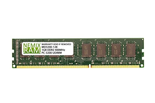 1GB (1x1GB) DDR-400MHz PC-3200 Non-ECC UDIMM 2Rx8 2.5V Unbuffered Memory for Desktop PC