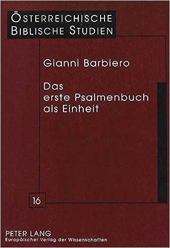 Das erste Psalmenbuch als Einheit (Österreichische Biblische Studien) (German Edition)
