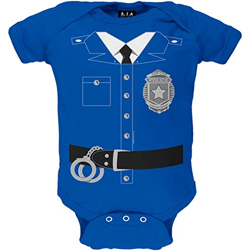 Policeman Costume Baby One Piece - 0-3 months (Girls Police Outfit)