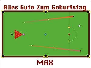 Personifizierte Snooker-Tisch 25.5 x 19 Zentimeter essbaren Kuchendeckel...