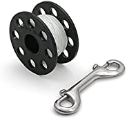Dive Rite 50' or 125' Finger Spool with Double Ended Snap Bolt for Scub