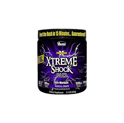ANSI Xtreme Shock NO Powder Radical Grape 34 Servings
