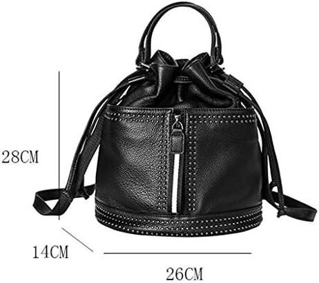 N/A DJBYY Cuoio Genuino delle Donne Sling Bag Crossbody Borsa a Tracolla for la Corsa Escursionismo, Dimensioni 30 * 28 * 16cm