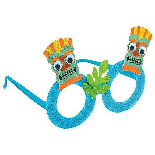 Fun-filled Summer Beach Party Tiki Eyeglasses Accessory, Foam,
