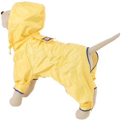 Petego Dogrich Rainforest Dog Raincoat with Detachable Fleece Undercoat, Yellow, 22 Inches